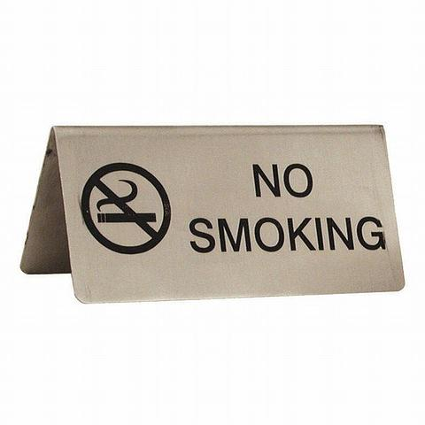 No Smoking Tent Table Sign National Hotel Supplies
