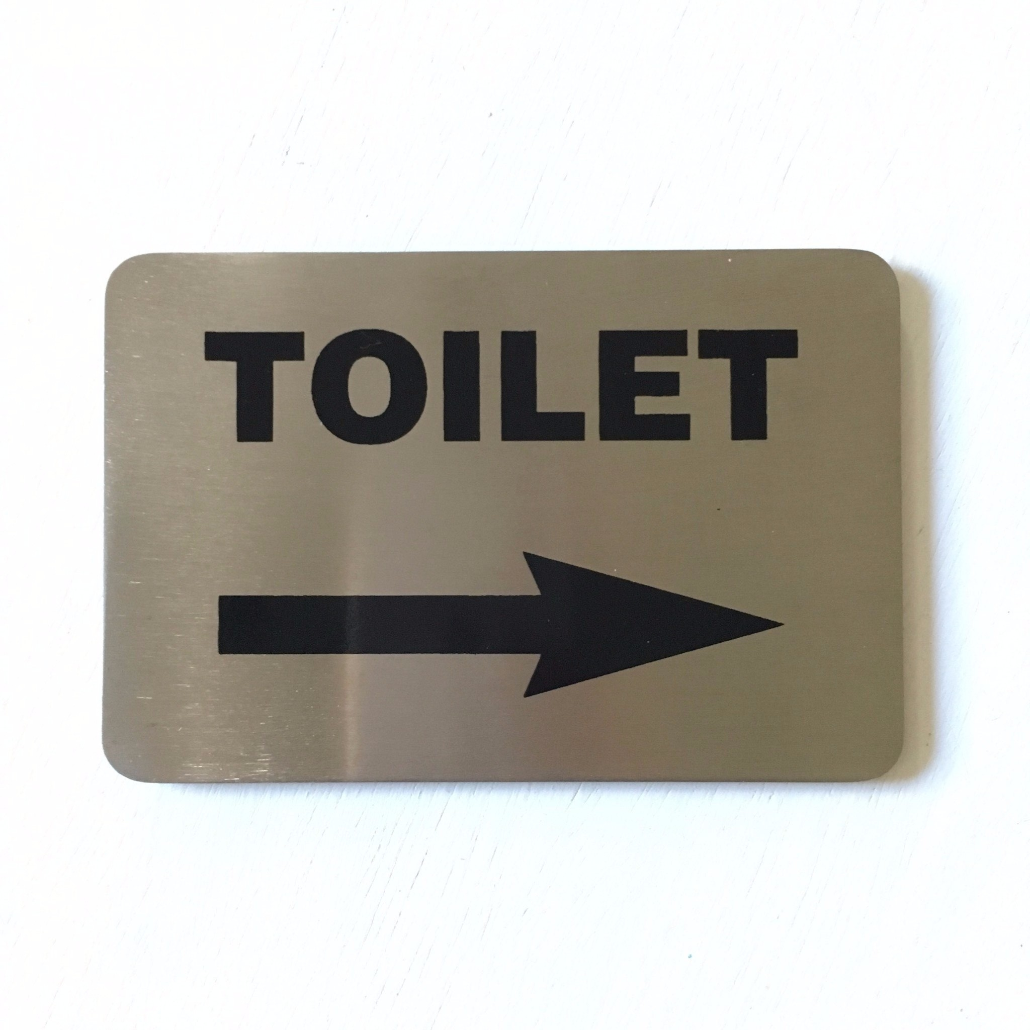 Toilet Arrow Right Sign
