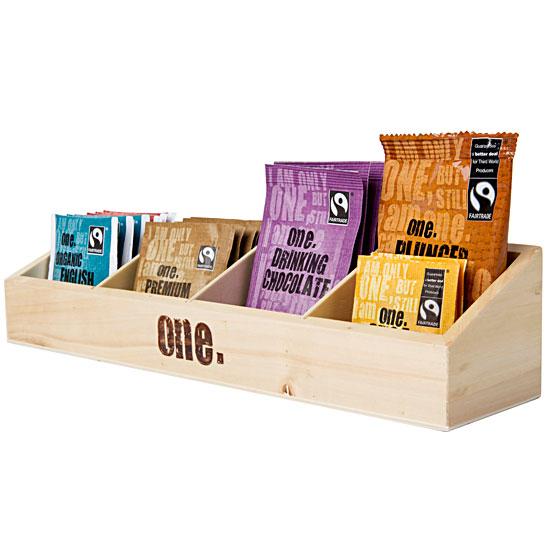 One Fairtrade Wooden Beverage Caddy