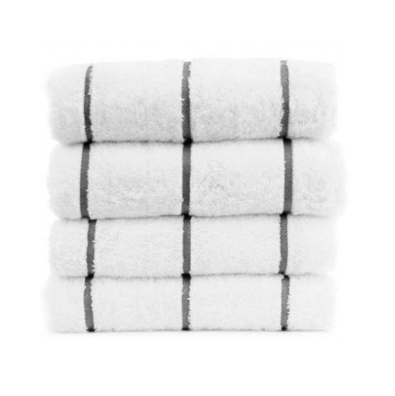 Pool Towel - Charcoal & White
