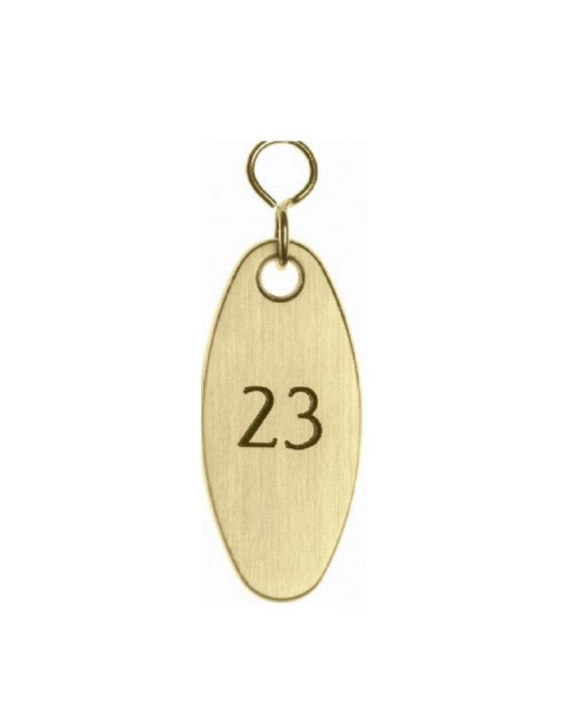 Gold Oval Key Tag